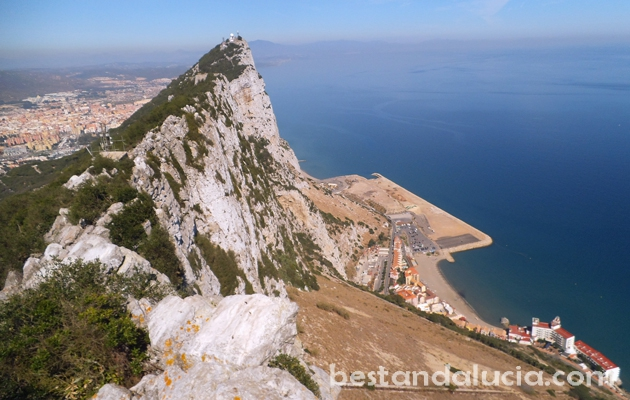 Gibraltar, uk, united kingdom, the rock, sea, mediterranean,  andalusia, andalucia, costa del sol, Europe