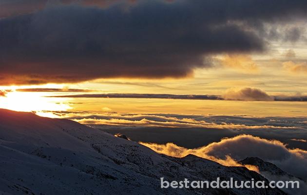 Breath-taking sunset in Sierra Nevada