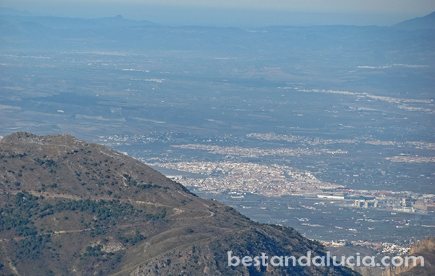 Granada seen from afar