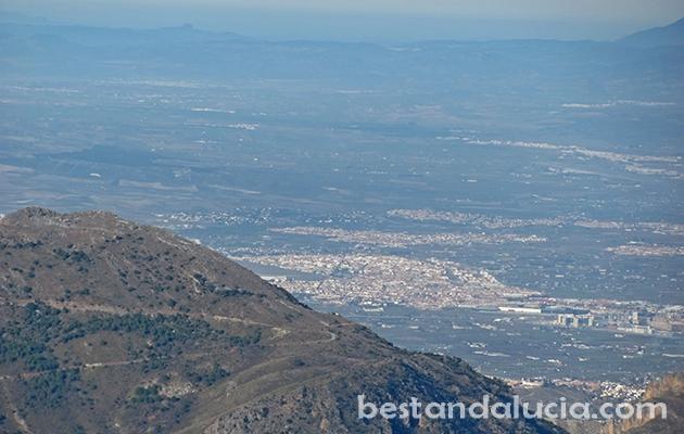 Granada seen from afar