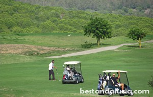 Golf players in Alcaidesa, Andalusia
