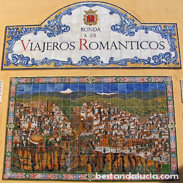 Los Viajeros Romanticos mosaic art