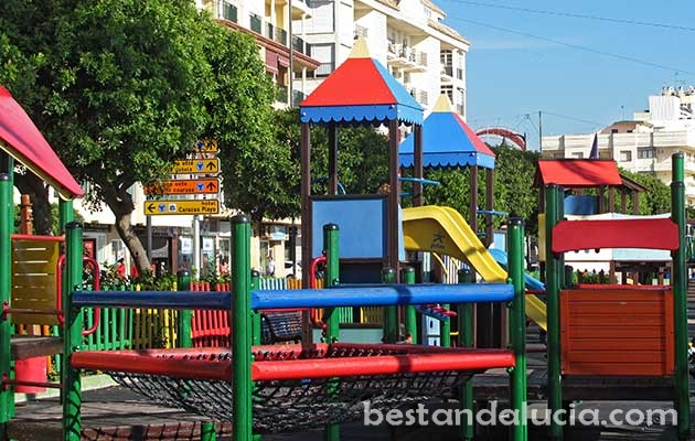 Beachfront playground near the centre of Estepona