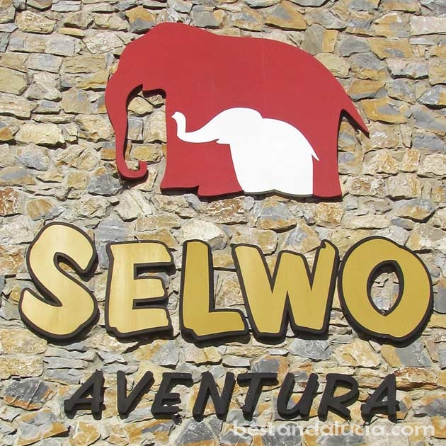 Entrance to Selwo Avenura near Estepona