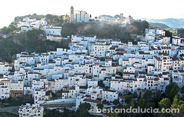 Casares, view, pueblo, blanco, white, village, Andalusia, spain, andalucia
