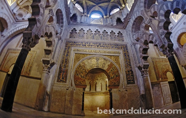 Inside the Mosque-Cathedral in Cordoba