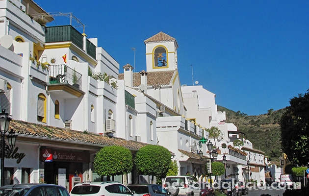 White, buidings, church, Benahavis, centre, pueblo, blanco, spain, andalusia, andalucia