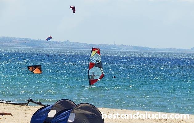 windsurfing, Tarifa, spain, Valdevaqueros beach