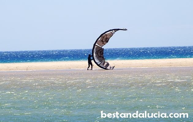 kitesurfing, Los Lances, beach, Tarifa, spain, espana