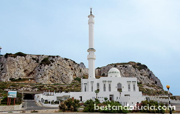 Mosque, Two Holy Custodians, Gibraltar,  uk, united kingdom, the rock,